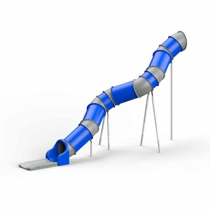 LEDON Röhrenrutsche blau/grau - Starthöhe: 400 cm 1