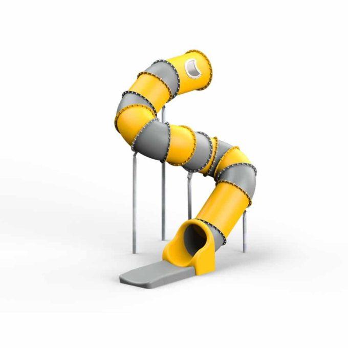 LEDON Röhrenrutsche gelb/grau - Starthöhe: 310 cm 1