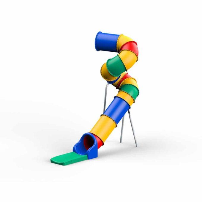 LEDON Röhrenrutsche bunt - Starthöhe: 400 cm 1