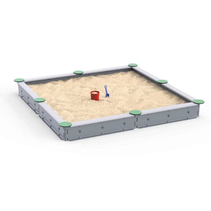 LEDON Sandkasten quadratisch mit 8 Seiten - verschiedene Ausführungen 19