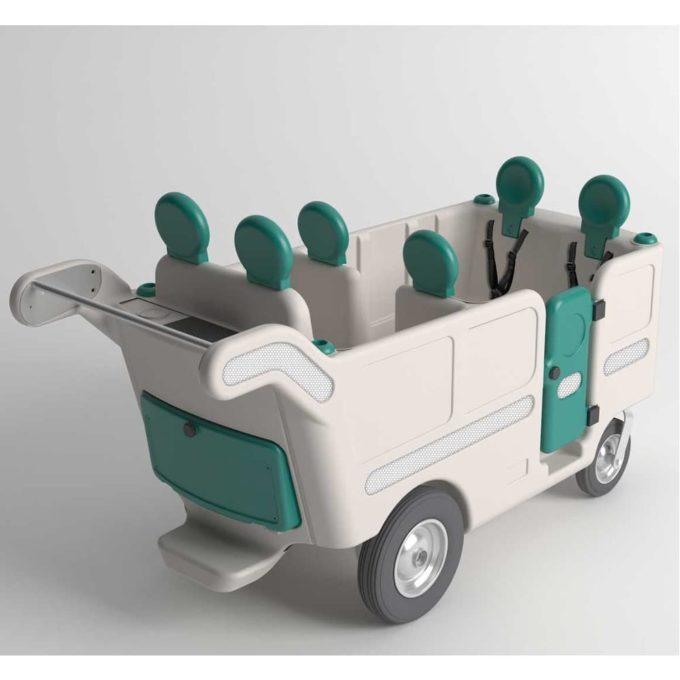 Italtrike Kinderbus 6-Sitzer - Espresso 3