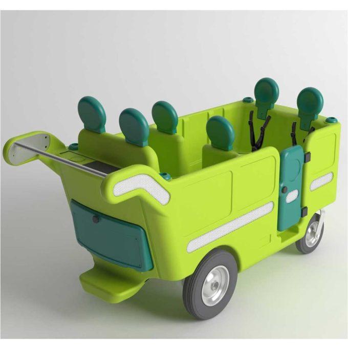 Italtrike Kinderbus 6-Sitzer - Espresso 4