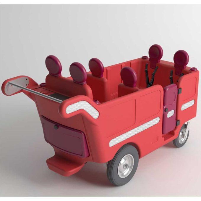 Italtrike Kinderbus 6-Sitzer - Espresso 1