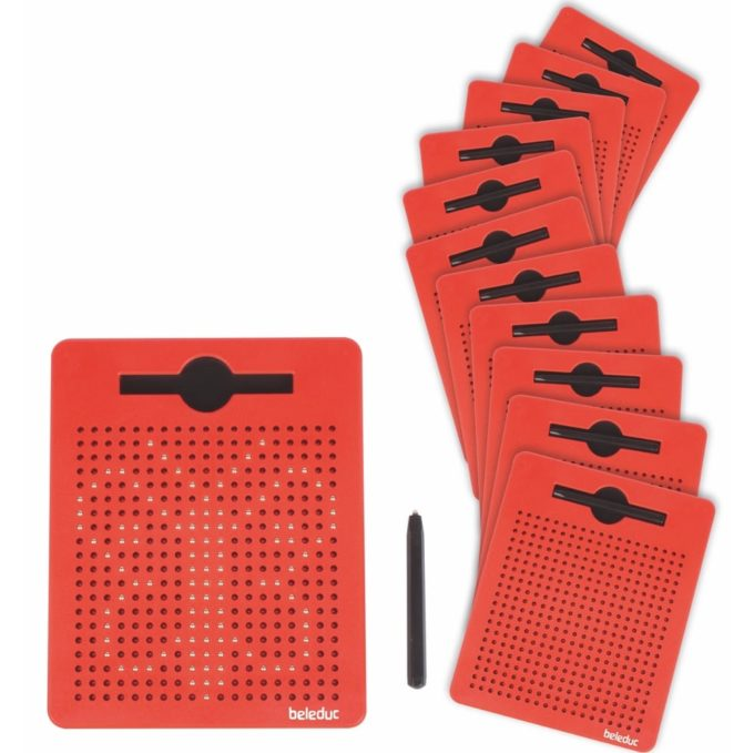 Beleduc 12er Set magnetische Zeichentafeln 1