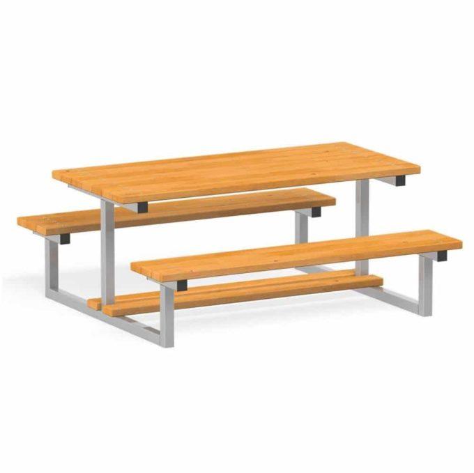 Novum Sitzgruppe Bank & Tisch 1