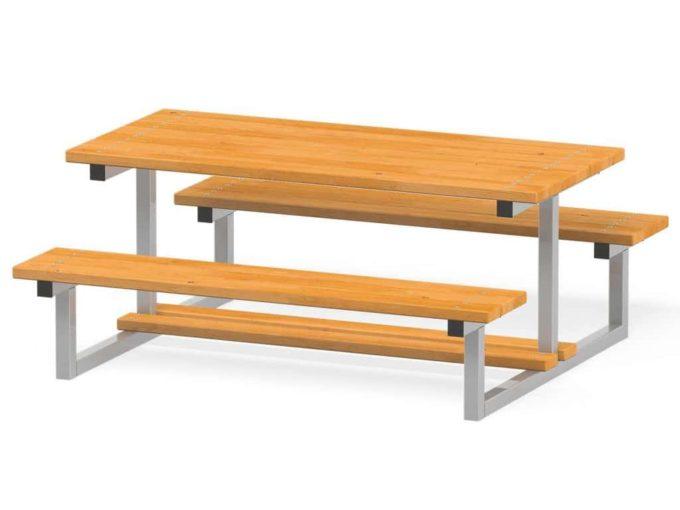 Novum Sitzgruppe Bank & Tisch 4