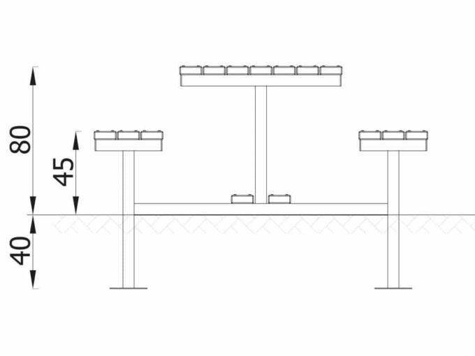 Novum Sitzgruppe Bank & Tisch 5