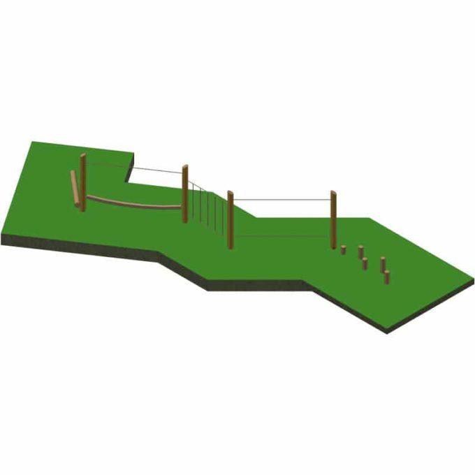 Niedrig-Kletteranlage AWP15 aus Robinien-Holz 1