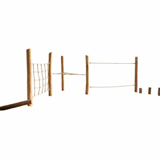 Niedrig-Kletteranlage AWP17 aus Robinien-Holz 1