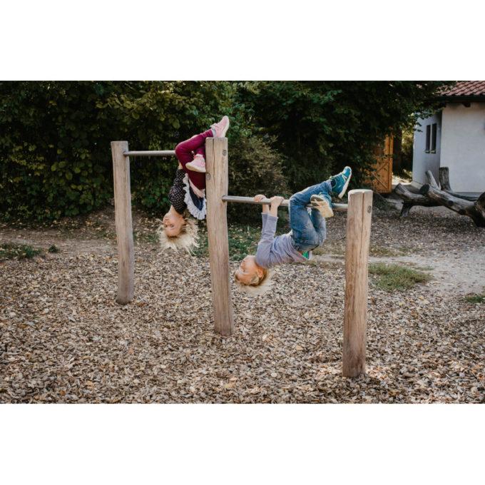 Doppelreck aus Robinien-Holz - Höhe: 80/110 cm 3