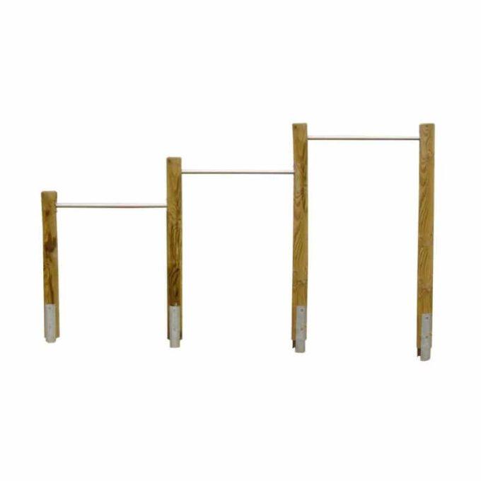 Dreifachreck - Kiefer mit Stahlankern 1