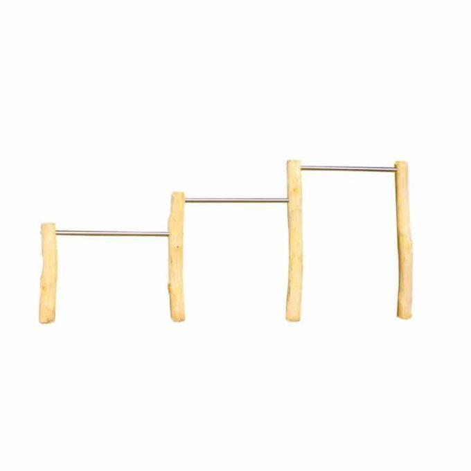 Dreifachreck aus Robinien-Holz - Höhe: 80/110/140 cm 1