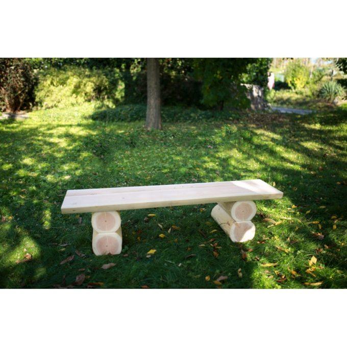Erwachsenen-Bank ohne Lehne aus Douglasien-Holz 2