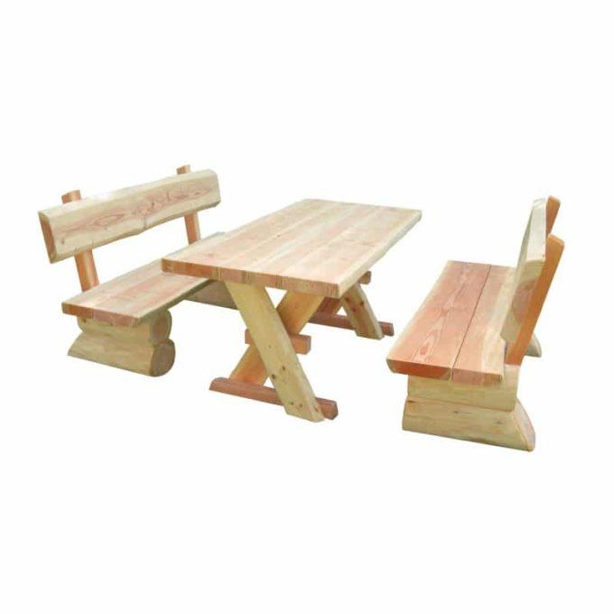 Erwachsenen-Garnitur aus Douglasien-Holz - montiert 1
