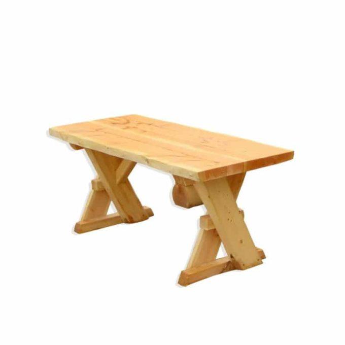 Erwachsenen-Tisch aus Douglasien-Holz - montiert 1