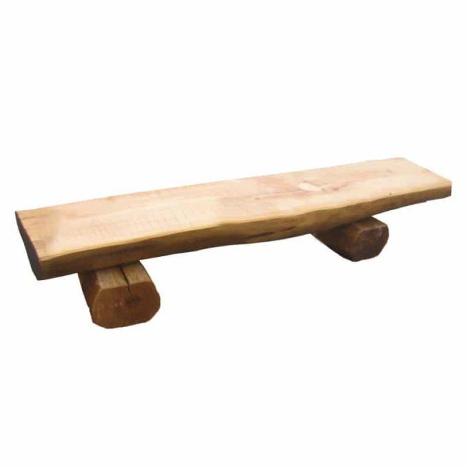 Holz-Halbstammbank (verschiedene Längen) 1