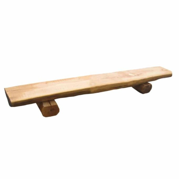 Holz-Halbstammbank (verschiedene Längen) 3
