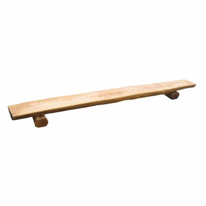 Holz-Halbstammbank (verschiedene Längen) 4