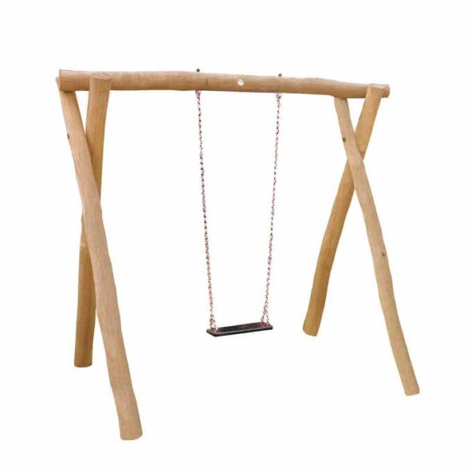 1-Platz Schaukelgestell mit Sitz aus Robinien-Holz 1