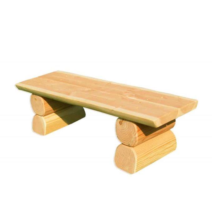 Erwachsenen-Bank ohne Lehne aus Douglasien-Holz 1