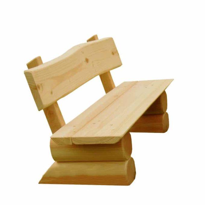 Krippen-Bank aus Douglasien-Holz - montiert 1