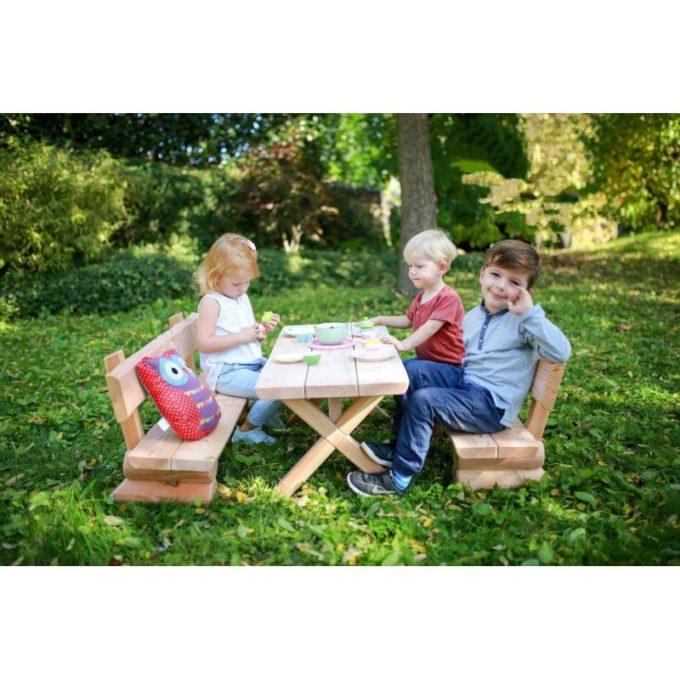 Kindergarten-Garnitur aus Douglasien-Holz - montiert 6