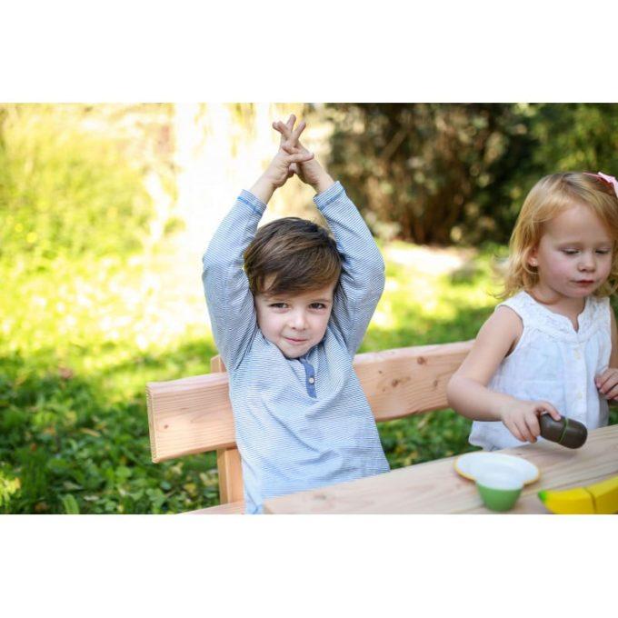 Kindergarten-Garnitur aus Douglasien-Holz - montiert 5