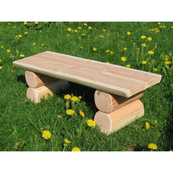 Krippen-Bank ohne Lehne aus Douglasien-Holz 3