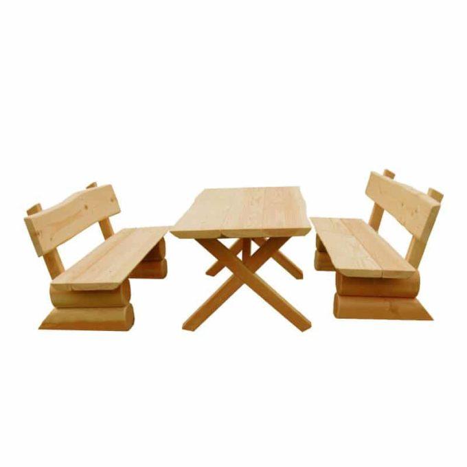 Krippen-Garnitur aus Douglasien-Holz - montiert 1