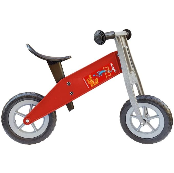redtoys Laufrad Tourer-Mini Feuerwehr in rot 1