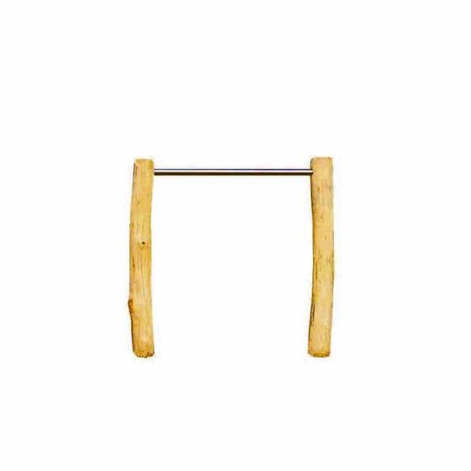 Einzelreck aus Robinien-Holz - Höhe: 110 cm 1