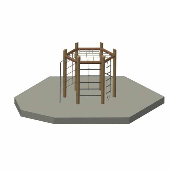6-Eck-Spielanlage aus Robinien-Holz 1