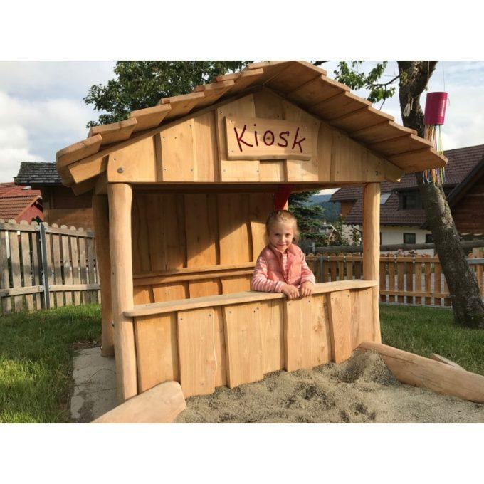 Spielhaus aus Robinien-Holz - Kiosk 2