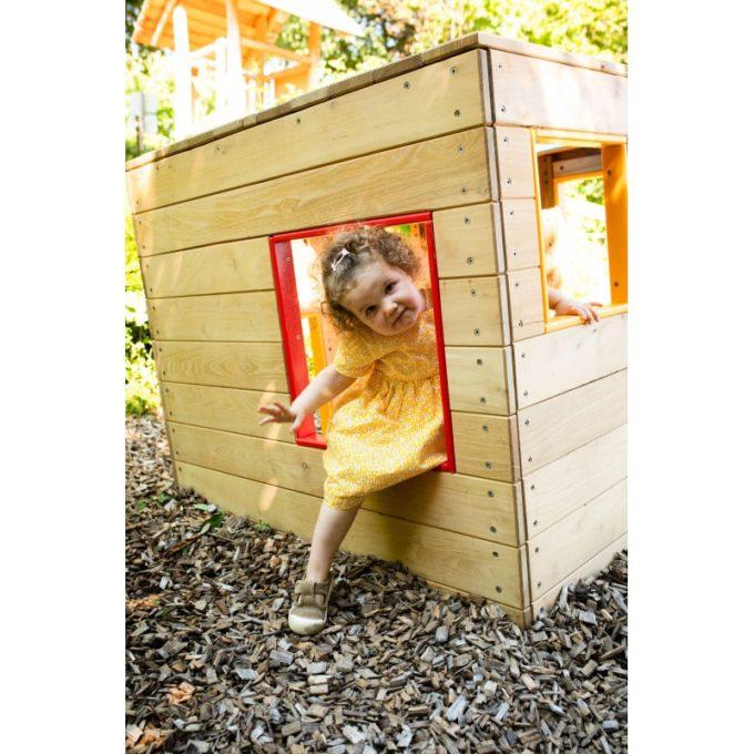 """Spielhaus aus Robinie """"Würfel"""" 3"""