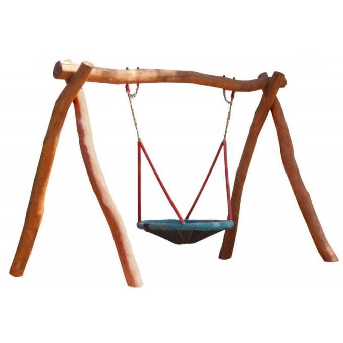 Vogelnest-Schaukelgestell aus Robinien-Holz inkl. Vogelnest + Aufhängelager 1