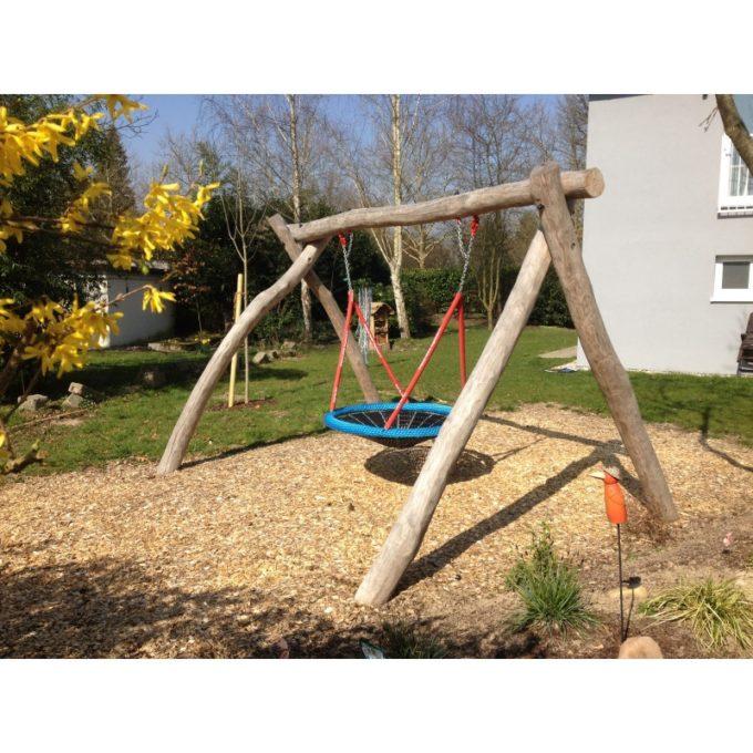 Vogelnest-Schaukelgestell aus Robinien-Holz inkl. Vogelnest + Aufhängelager 2