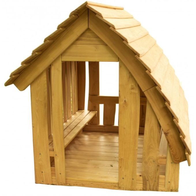 Spielhaus aus Robinien-Holz - Waldhütte inkl. Boden 2