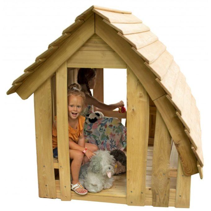 Spielhaus aus Robinien-Holz - Waldhütte inkl. Boden 1