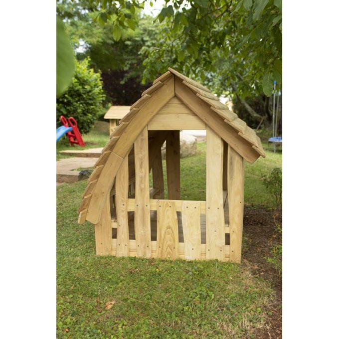 Spielhaus aus Robinien-Holz - Waldhütte inkl. Boden 3