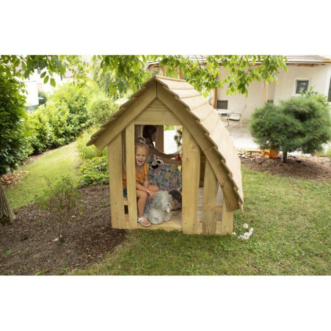 Spielhaus aus Robinien-Holz - Waldhütte inkl. Boden 4