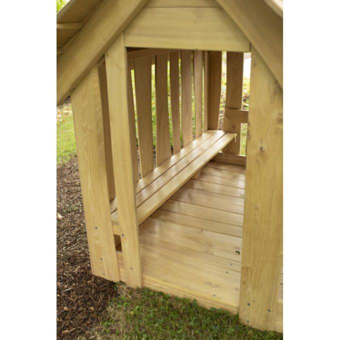 Spielhaus aus Robinien-Holz - Waldhütte inkl. Boden 5