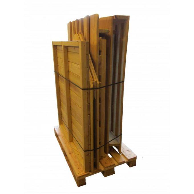 Spielhaus aus Robinien-Holz - Waldhütte inkl. Boden 6
