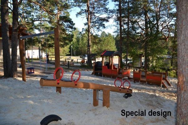 Lars Laj Wippe Nature für 4 Kinder 4