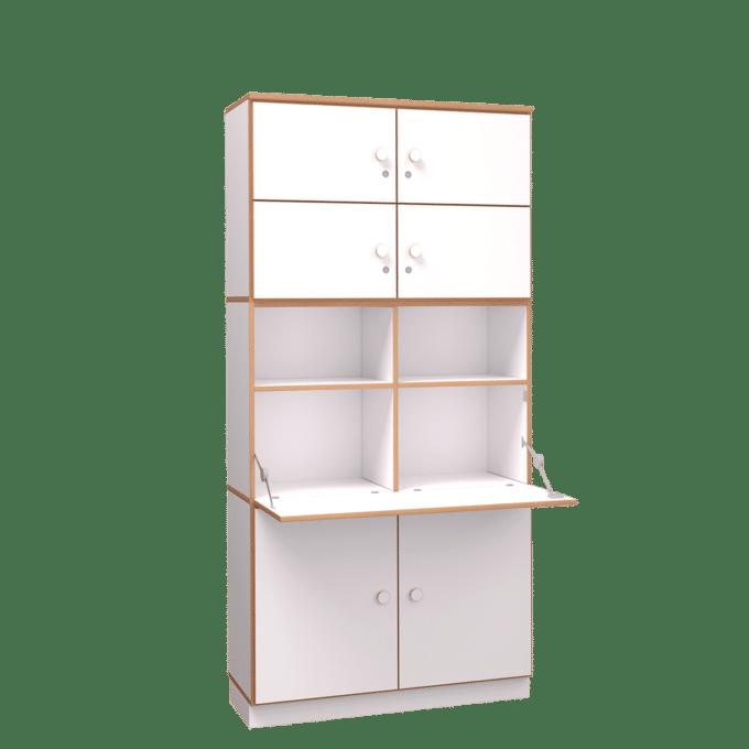 De Breuyn Regalschrank mit Sekretärklappe & vier Türen 2