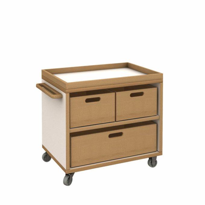 De Breuyn Materialwagen klein mit 3 Kisten 1