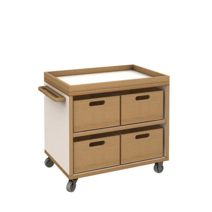 De Breuyn Materialwagen klein mit 4 Kisten 1