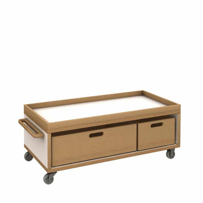 De Breuyn Materialwagen flach mit 2 Kisten 1