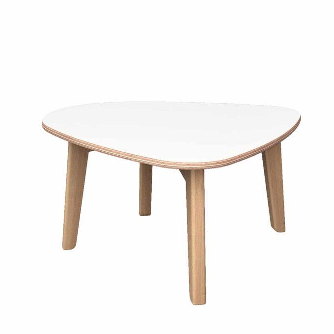De Breuyn Tisch gerundete Dreieck-Form 60x90 cm 1