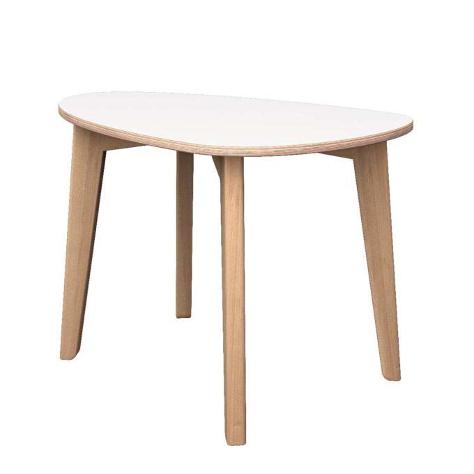 De Breuyn Tisch gerundete Dreieck-Form 60x90 cm 2