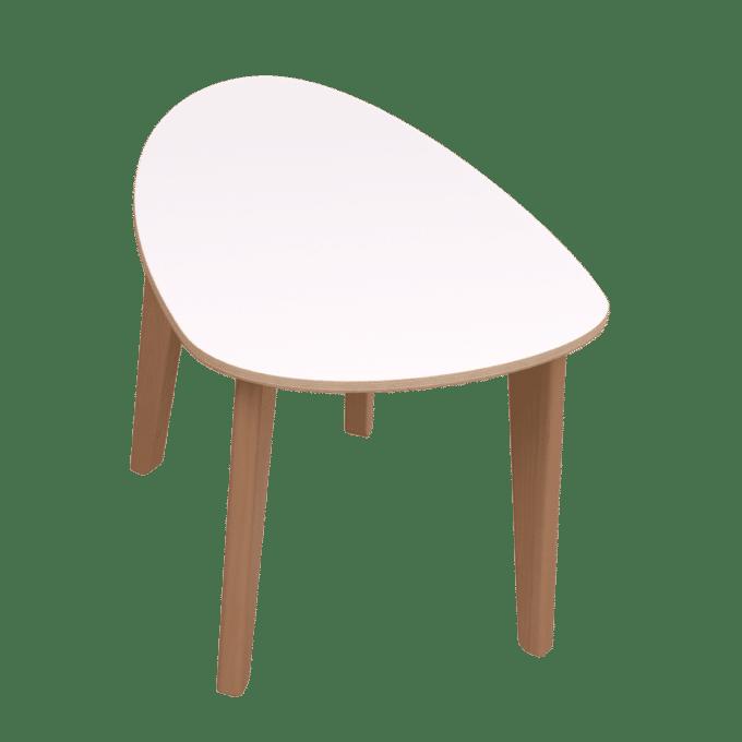 De Breuyn Tisch gerundete Dreieck-Form 60x90 cm 6
